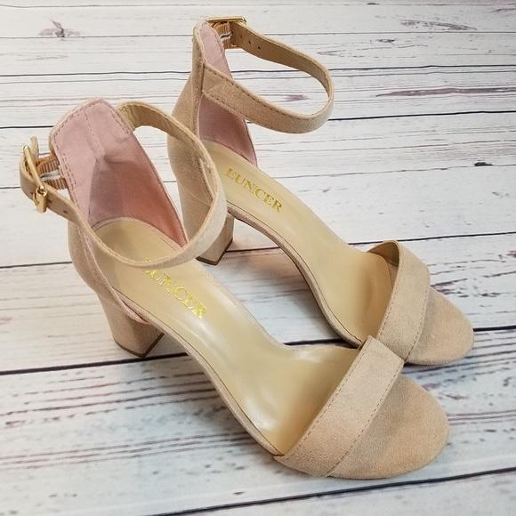 4338f3a999a36 Eunicer Chunky Block High Heel Sandals Sz 6.5